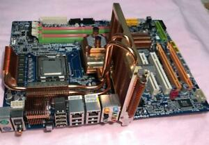 Ultra rare motherboard Gigabyte GA-EP45T-Extreme 775 Socket TOP Gb + with E8500