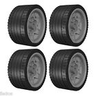 4 Lego MEDIUM SMOOTH Tires + Wheels (robot,tyre,technic,racer,grand,prix,ev3)