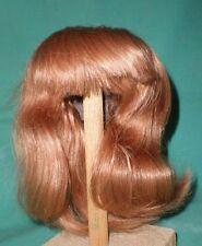 """Peluca de muñeca/cabello humano 12.5"""" a 13.5"""" marrón claro, shoulderlength, flecos mano kn."""