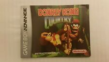 Donkey Kong Country Game Boy Advance booklet