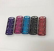 Rose Design Lighter Case - Fits Large Lighter Bic - Coloured