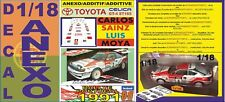 ANEXO DECAL 1/18 TOYOTA CELICA CARLOS SAINZ RALLY PORTUGAL 1991 (01)