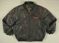 VTG AVIREX USAF INTERMEDIATE MA-1 LEATHER FLIGHT BOMBER JACKET FLYERS COAT XL