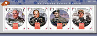 Guinea-Bissau Military Stamps 2015 MNH End of WWII WW2 Churchill De Gaulle 4v MS