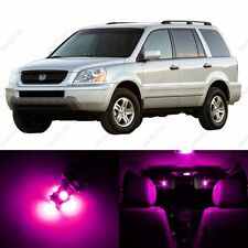 12 x Pink/Purple LED Lights Interior Package Deal For Honda PILOT 2003 - 2005