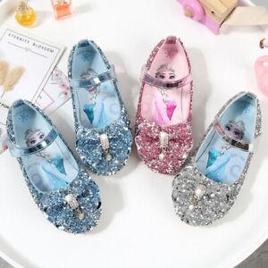 Frozen 2 Princess Shoes Elsa costume party glamour shoes pink blue silver