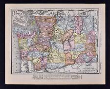 1911 McNally Index Map - Washington - Seattle Spokane Olympia Tacoma Mt. Rainer