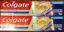 2 Tubes Colgate Total SF Toothpaste Advanced Whitening Paste 5.1 OZ Each NEW