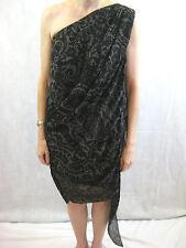 Acne Size 6-8 Dark Brown Atlantis Print Cocktail Dress