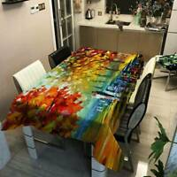 Home Scenic Printed Tablecloth Dust-proof Tablecloth Table Protector Cloth D