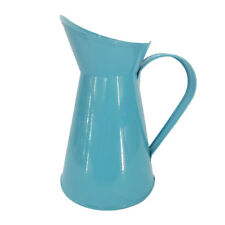Shabby Chic Retro Metal Jug Vase Flower Pitcher Wedding Home Decor Blue