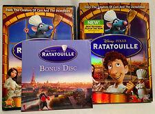 Ratatouille (Disney Pixar DVD+Bonus Disc, 2007) Widescreen, w/Inserts & Slipcase