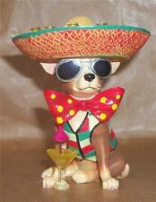 AYE CHIHUAHUA  PARTY ANIMAL / DOG / Sombrero / Shots Figurine ORNAMENT SCULPTURE