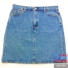 LEVIS Womens Skirt Denim Jean 16 mis Waist 36 Red Tab MADE IN USA Vintage VTG