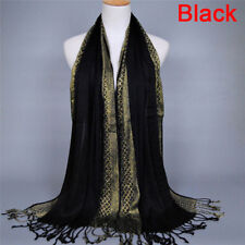 Cotton Tassel Long Hijab Pashmina Shawl Scarf Scarves Stole Wrap Fashion Women 3 Red