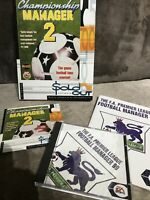 CHAMPIONSHIP MANAGER 2 and THE F.A PREMIER LEAGUE FOOTBALL MANAGER 99 Retro PC