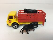 MATCHBOX CATTLE TRUCK WITH 2 COWS  c