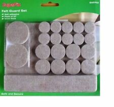 Felt Pads furniture leg self adhesive 5mm floor protectors pack 27 assorted
