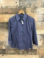New Banana Republic Women's  Fitted Stretch 3/4 Sleeve Button Up Shirt Size Med