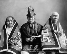 New 8x10 Native American Photo: Three brothers, Kak-Von-Tons of Chilkat Tribe
