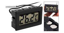 Thermomètre LCD pour Aquarium avec Sonde Submersible Étanche de 100cm + 2 Piles