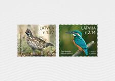 BIRDS Latvia Lettland Lettonie 2020  Hazel Grouse - Common Kingf MNH