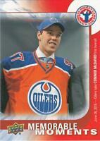 2016 UD National Hockey Card Day Connor McDavid CAN-16 Memorable Moments Oilers