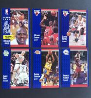 JORDAN x 2, Bird, Magic and More...1991-92 Fleer Lot (6 Cards)--Free Shipping!!