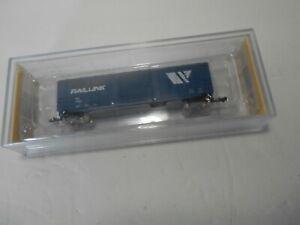 BACHMANN N SCALE TRAIN BOX CAR MONTANA RAIL LINK 19657 MIP