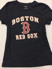 Boston Red Sox Tee Womens Size Medium Glitter Shimmer Logo MLB Merchandise