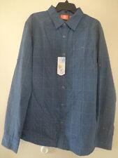 Merrell Men's Sarawan LS Casual Button-down Long Sleeve Shirt - Bleu Clair -XL