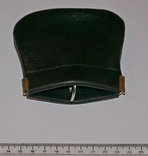 genuine black leather key/coin pouch