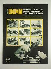 UNIMAT  Miniature Machining Techniques Book,Manual book.