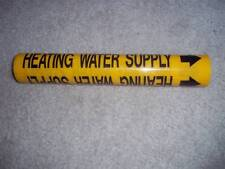 9 - MARKING SERVICES HEATING WATER SUPPLY SIGNS  GREEN ADHESIVE  MS-970 1DP