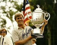 HAL SUTTON HAND SIGNED 1983 PGA CHAMPIONSHIP 8X10 PHOTO W/COA