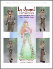"""Le Jeans!"" 18 inch Ball Jointed Doll BJD Kaye Wiggs Fashion Clothing Pattern"