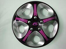 4 Alu-Design Radkappen 14 Zoll Enfinity GT black/silber/pink RS SOMMERREIFEN
