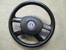 4-Speichen Lederlenkrad VW Polo 9N schwarz 6Q0419091F Lenkrad Airbag