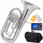 MENDINI  4 VALVE NICKEL PLATED Bb EUPHONIUM +$39 GIFT