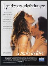 A Man In Love_Original 1988 Trade print Ad promo_Greta Scacchi_Peter Coyote