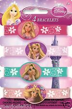 Disney Princess Tangled Rapunzel Rubber Wristband Bracelets 4pcs Party Favors