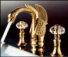 Crystal Handles Swan Design Brass Gold Basin Faucet Basin Sink Washing Mixer Tap