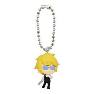Durarara Mascot Swing Anime PVC Keychain Shizuo Heiwajima SD Figure @Durarara!