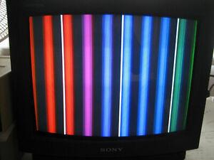 "PRO SERVICED* Sony Trinitron KV-13TR24 13"" Color CRT TV Retro Gaming *REMOTE**"