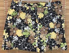 White Stag Ladies 14 Average Black Floral Printed Skort (A7)