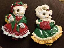 Christmas Caroling Kitten Cat Magnets