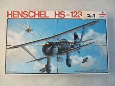 VINTAGE 1/48 SCALE HENSCHEL HS-123 A-1 MODEL KIT BY ESCI IN BOX #4001