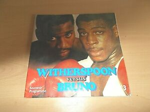 The World Champioship Boxing Programme Between WITHERSPOON & BRUNO In 1986