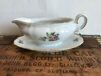 Winterling Fine China Flower Garden Gold Trim Bavaria Germany Gravy Boat Floral
