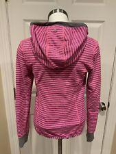 Ivivva Lululemon Pink Striped & Gray Reversible Zip Up Hoodie, Size 14